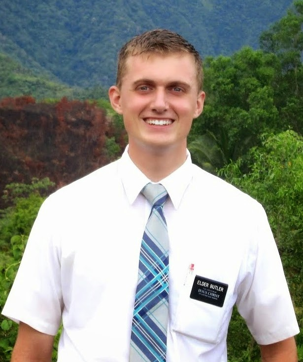 We now have a site for Elder Butler! (Click his picture.)
