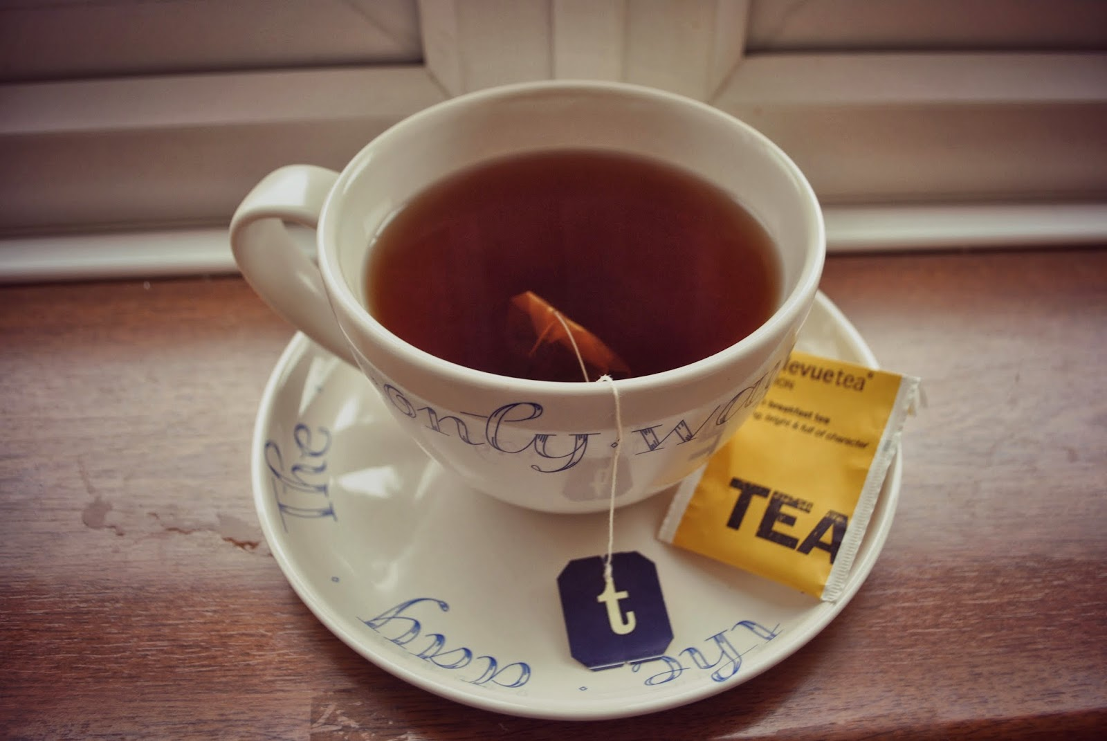 tea bag with tags