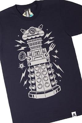 "Johnny Cupcakes x Doctor Who ""Cake-Bot"" Dalek Navy T-Shirt"