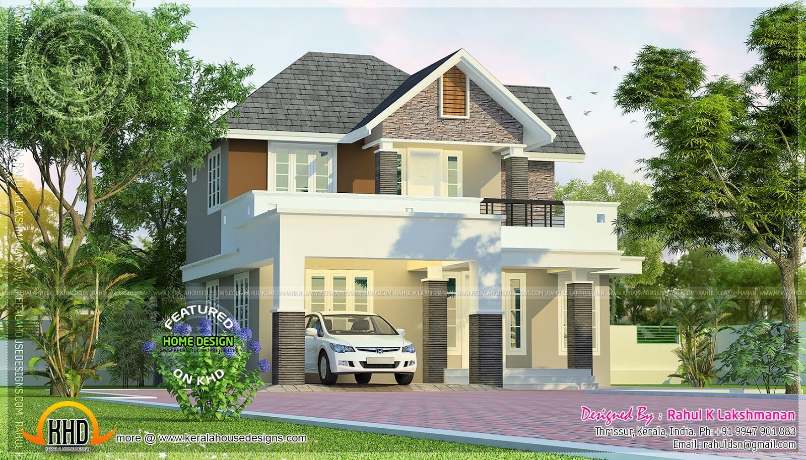 June 2014 kerala home design and floor plans for Beautiful small houses