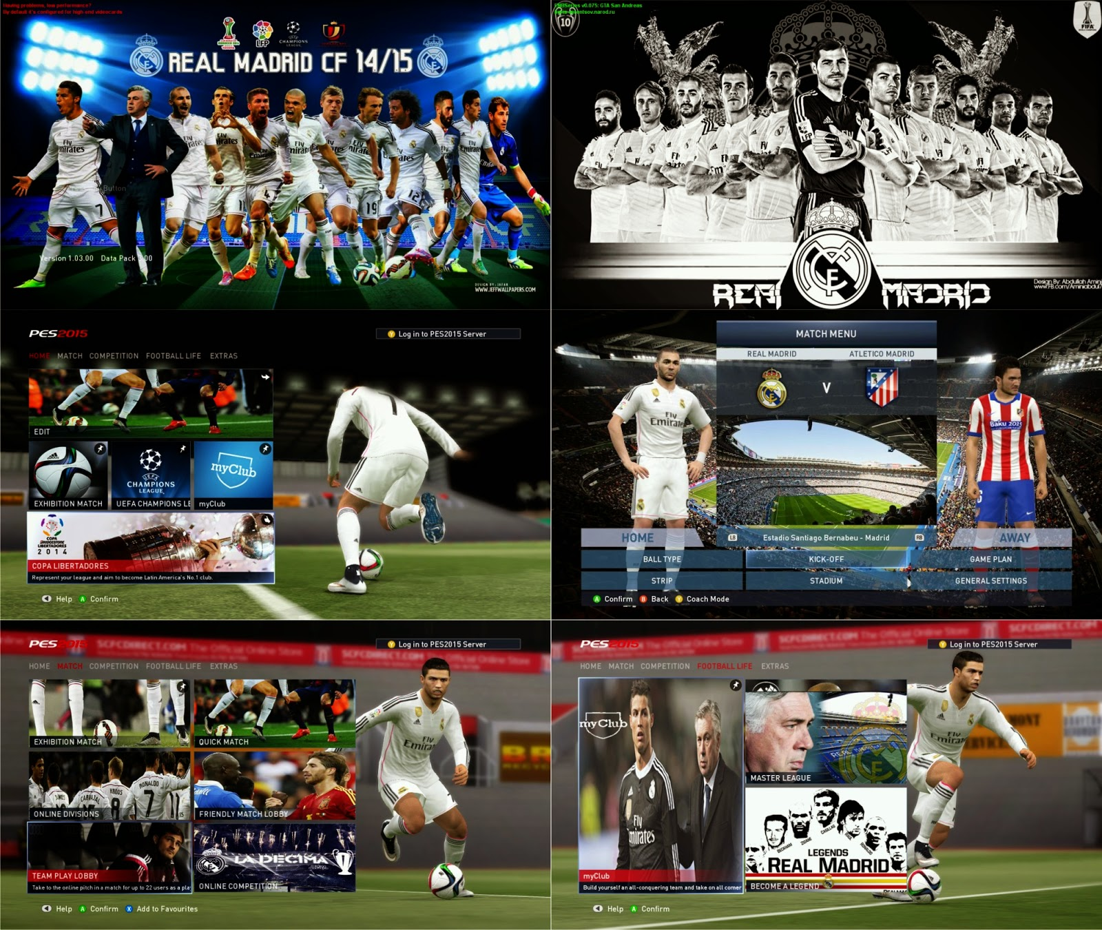 PES 2015 Real Madrid New Graphic by mossa the rock