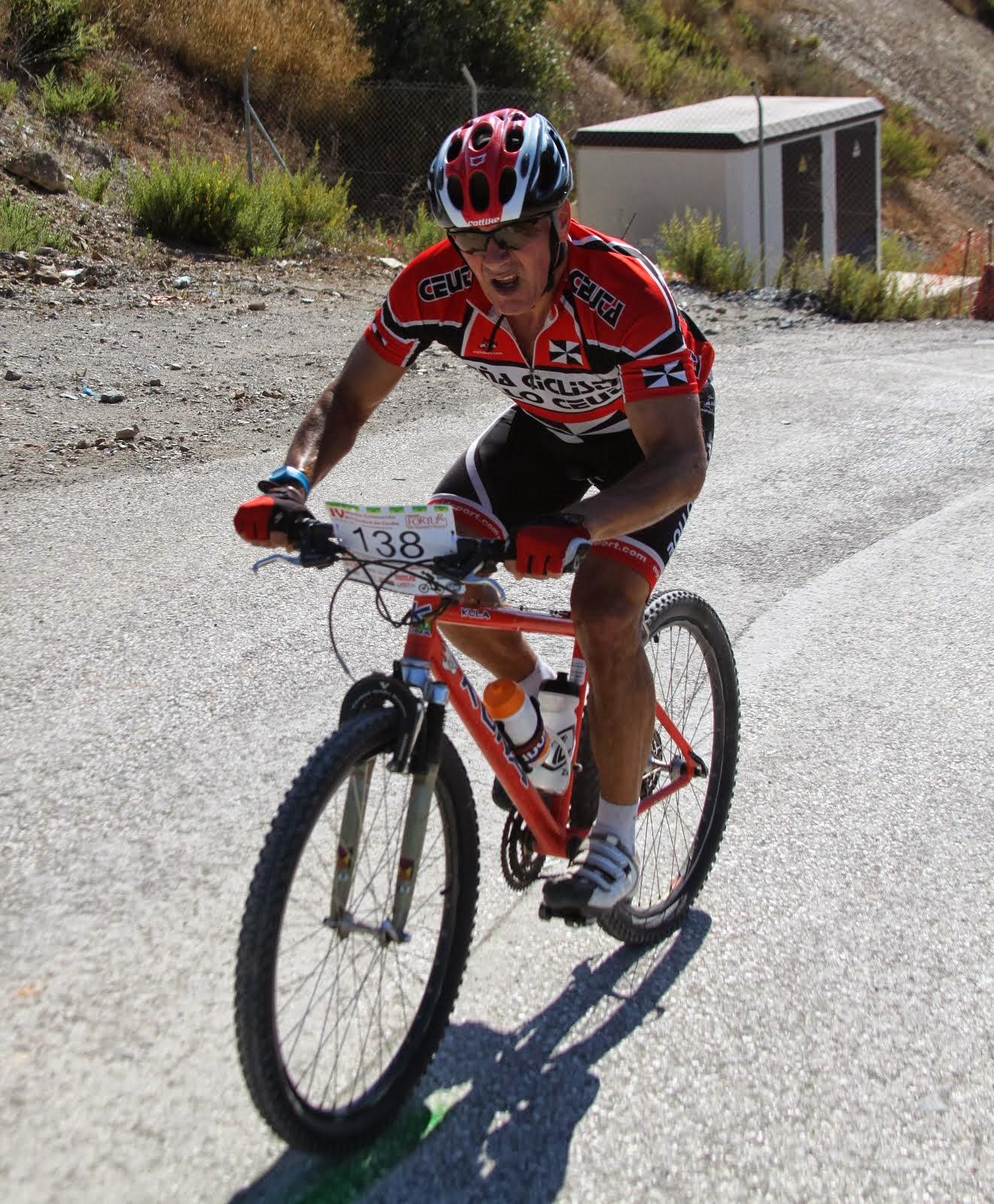 Quero lo bordó en la ciclo BTT de Ceuta