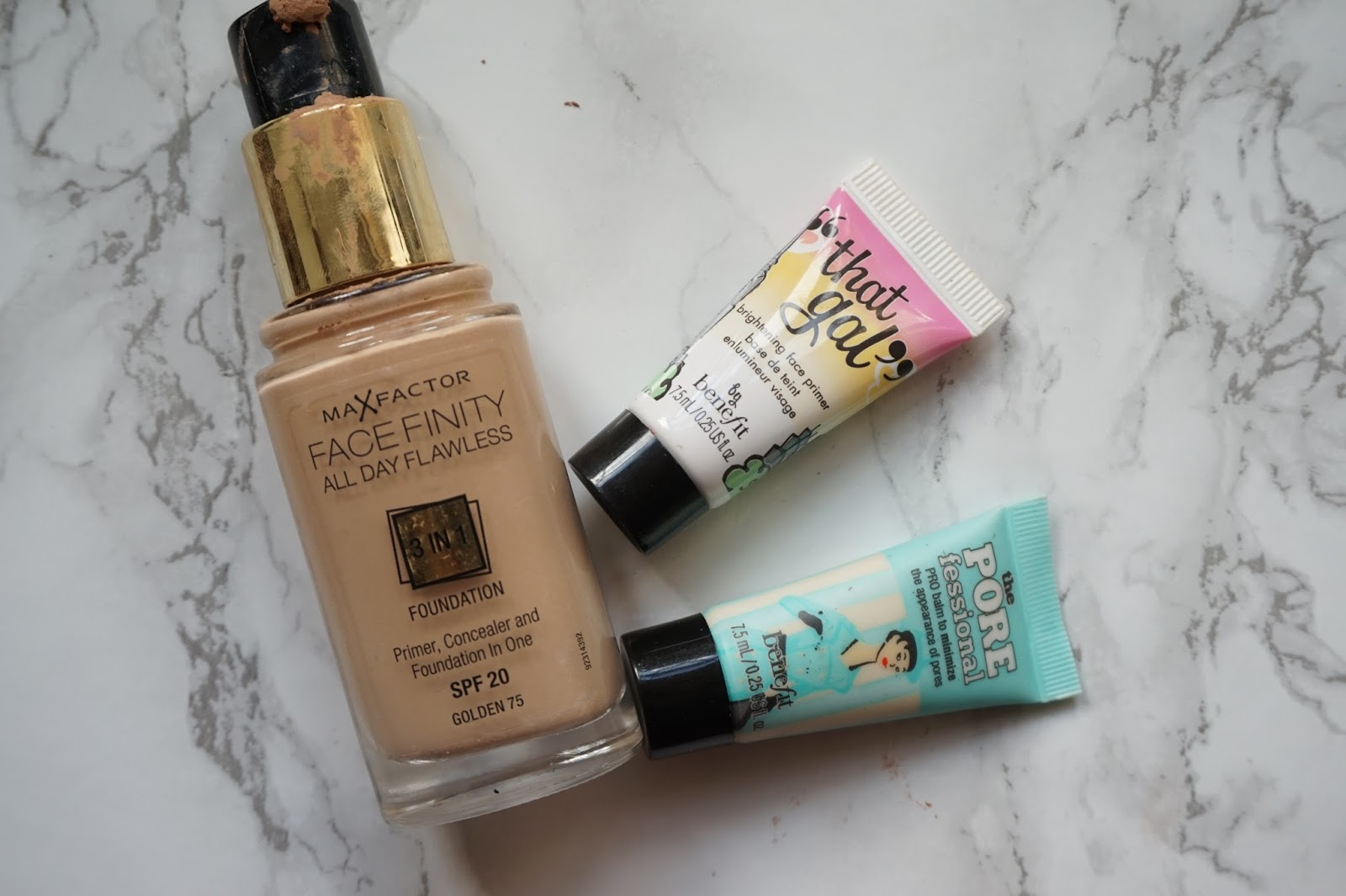 Maxfactor, facefinity foundation, benefit, primer,