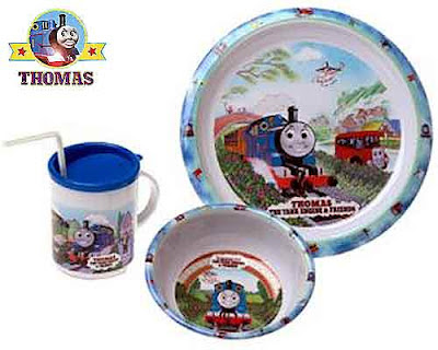 Bertie bus Harold the helicopter friends of Thomas and Thomas Dinnerware 3 Piece Boys Dinnerware Set