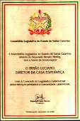 Comenda legislativa entregue por Renato Hinnig.