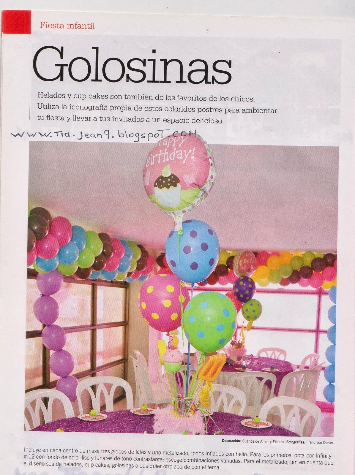 Moldes para todo decoraci n con globos golosinas - Adornos con golosinas ...