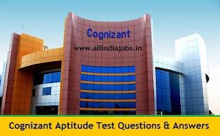Cognizant Aptitude Test