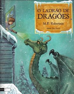 Capa do livro - O Ladrão de Dragões, de M. P. Robertson