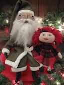 Santa Claus and Raggedy Annie
