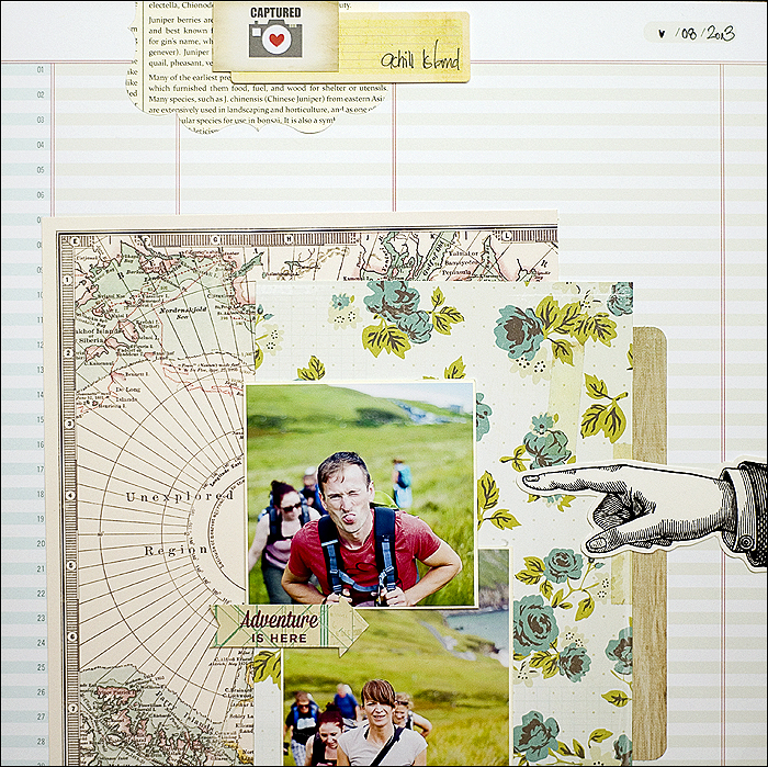 Scrapbooking Layout - Hiking, Achill Island