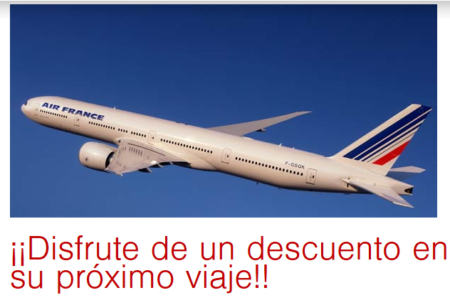 Descuento Air France