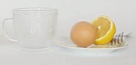 Lemon and egg white mask