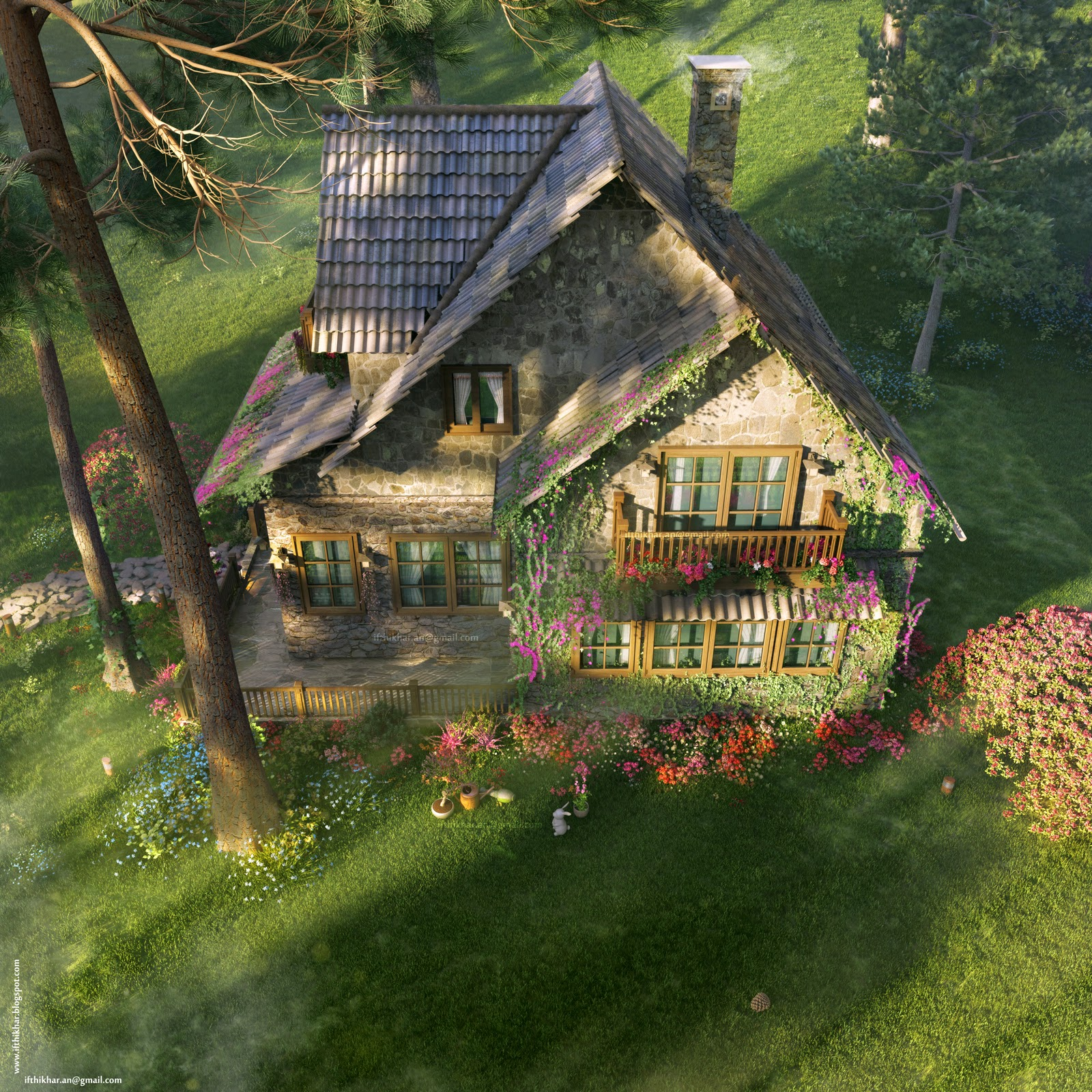 The firefly cottage 3dsmax vray cottage architecture case study