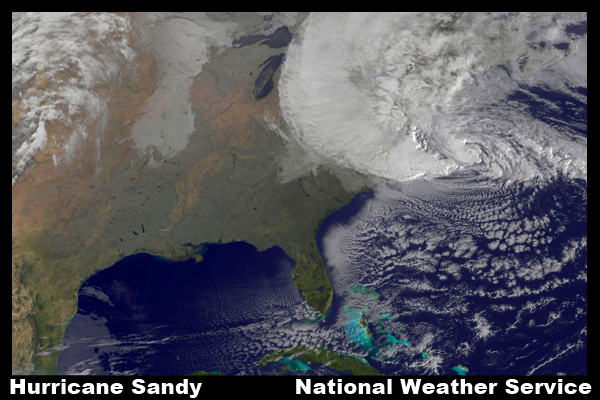 Hurrican Sandy Satellite Image 10-29-2012