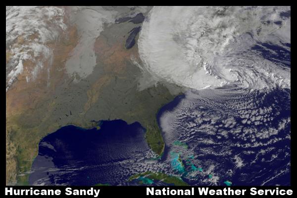 Hurrican Sandy Satellite Image 10-29-2012