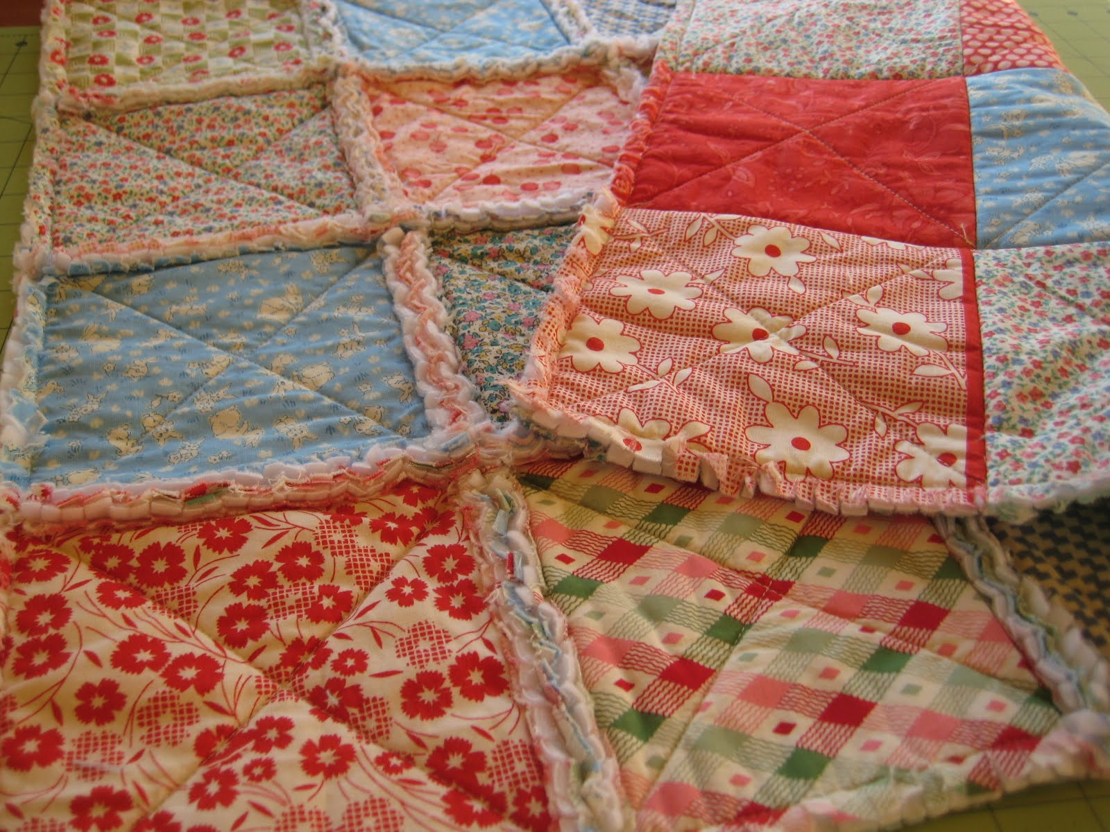 Rag quilt quilting in the rain for Quilting material