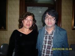 Con Raúl Allaín , Editor poeta