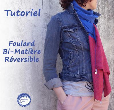 foulard bi-matière tuto Christelle Beneytout