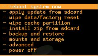 Install CWM recovery di Galaxy Y