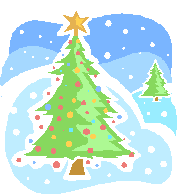 Christmas Tree in Snow Clipart printable