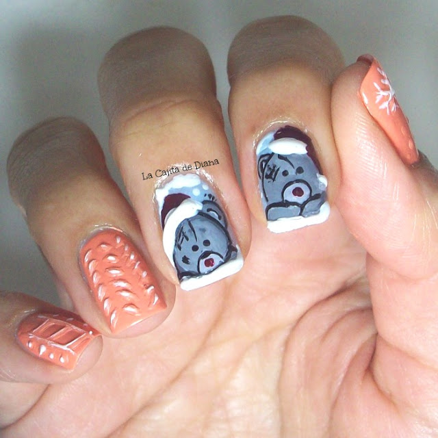 Nailart-Christmas-bears