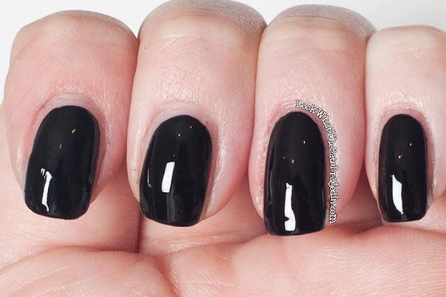 Ulta3 Black Satin nail polish swatch