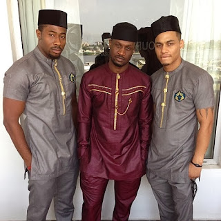 Peter Okoye's traditional wedding outfit