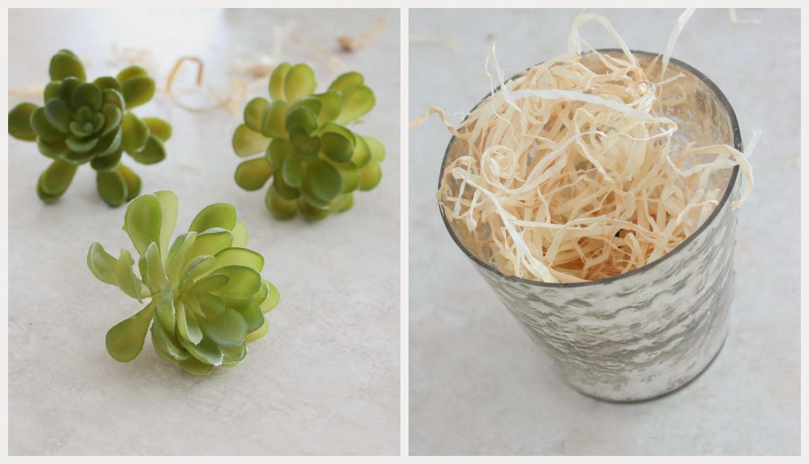 Fake Succulent Pots via housebyhoff.com