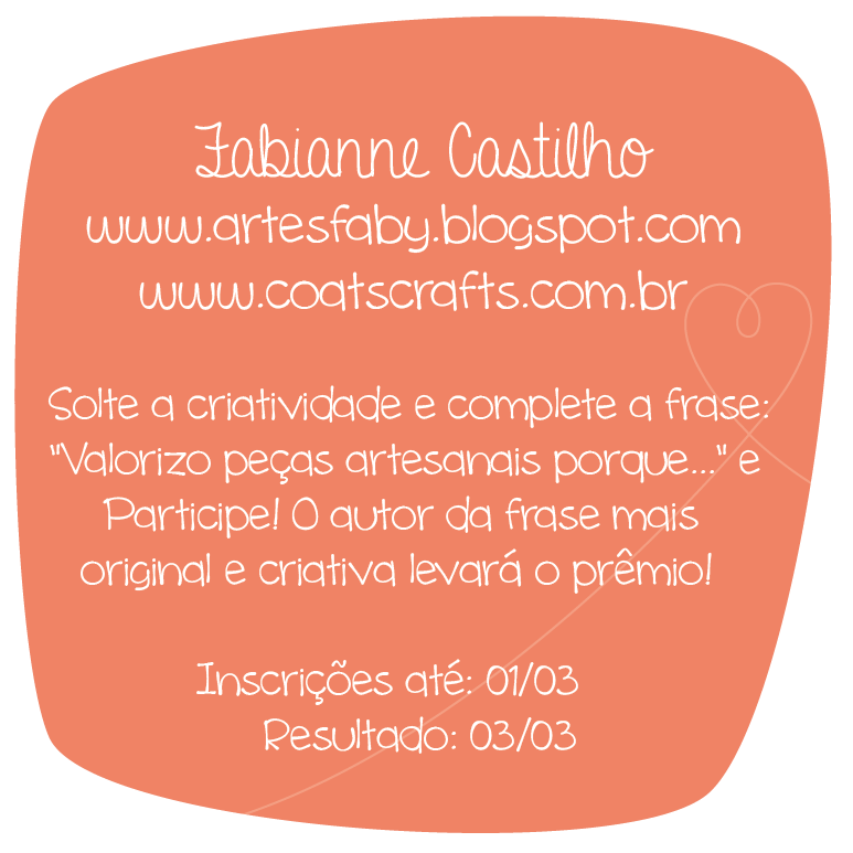 sorteio no blog artesfaby