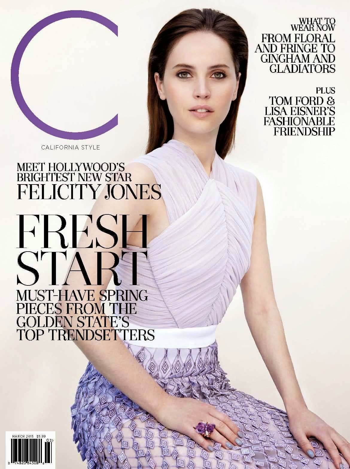 Actress: Felicity Jones - California Style US March 2015