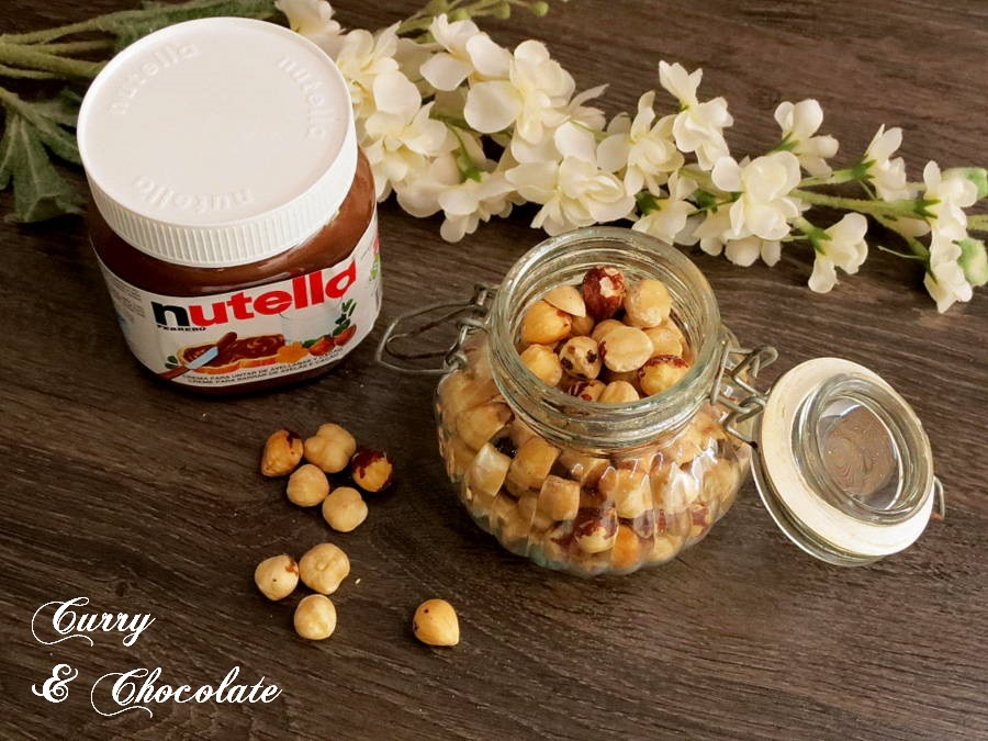 Nutella and hazelnuts