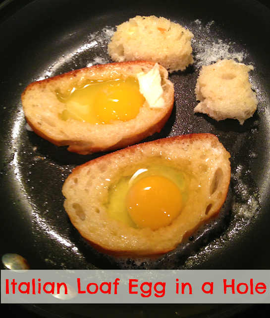 Sunday Brunch: Italian Loaf Egg in a Hole & Baked Bacon - MyThirtySpot