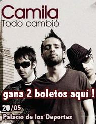premios boletos gratis concierto camila promocion ticketbis Mexico 2011