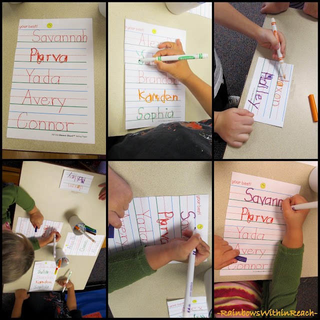 photo of: Self Regulatory Sign-in System for Fine Motor Development in Preschool