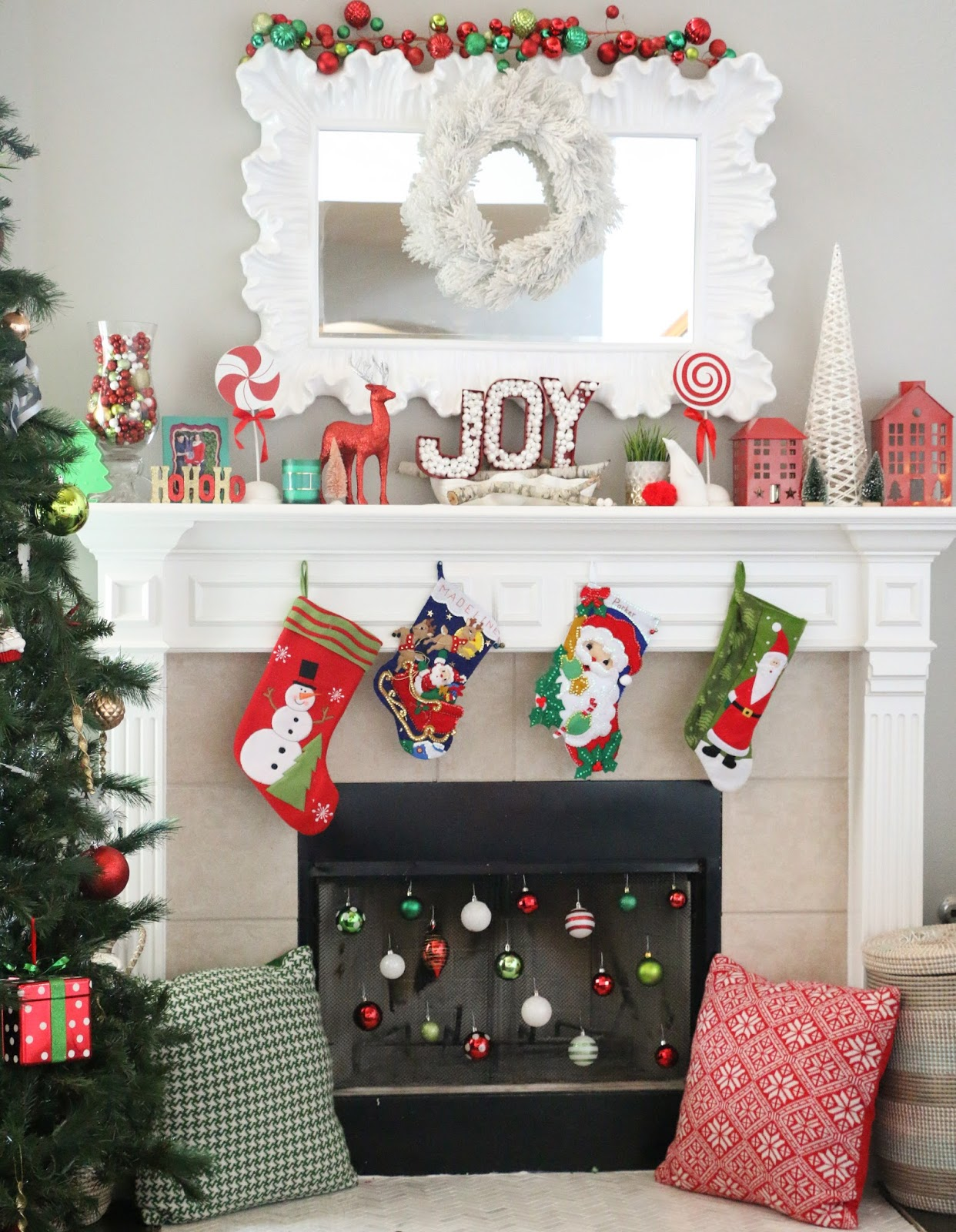 Christmas Decorative Fireplace Screens | www.topsimages.com