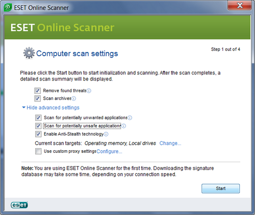 remover virus malware eset nod32 security