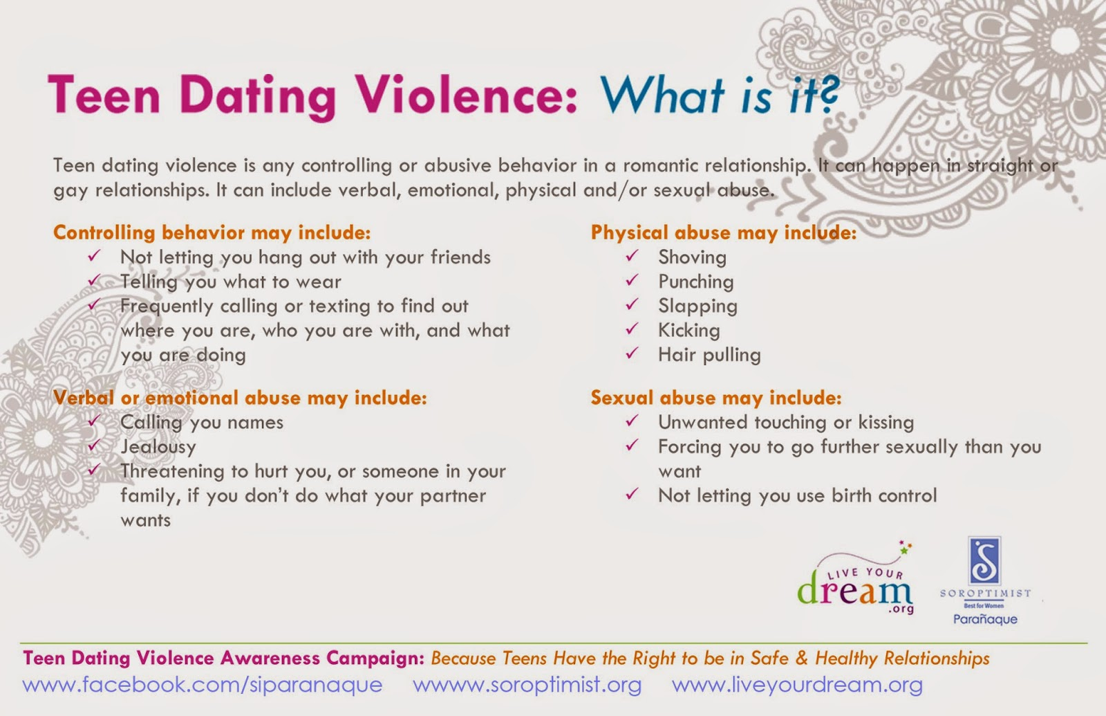 Teen dating violence california