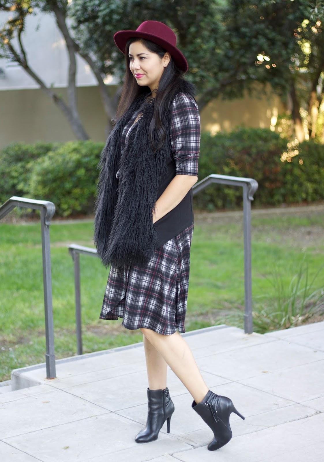 Karina Dresses, Karina Dresses plaid, fall fashion 2015, fall style 2015, socal fashion blogger