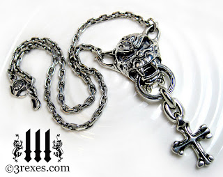 silver gargoyle necklace