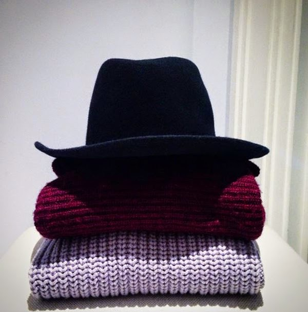 Fashion Blog Modeblog Fedora Hat Chunky Knit Pullover