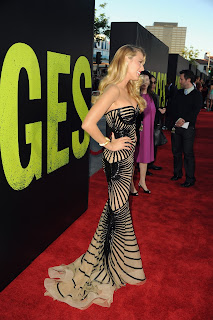 Blake Lively stunning on the red carpet at Savages Los Angeles Premiere