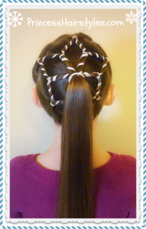 snowflake ponytail winter hairstyles