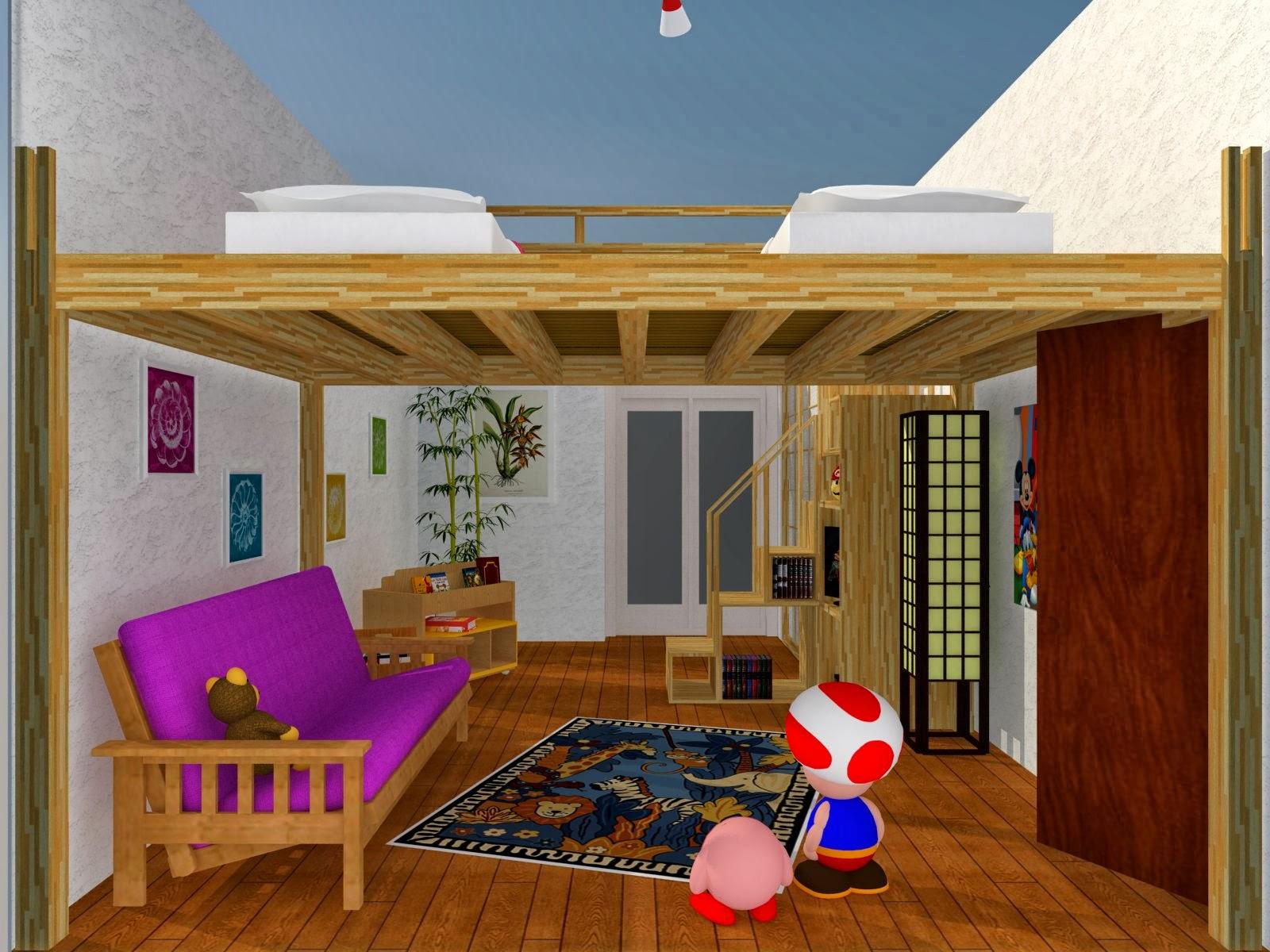 Soppalco in legno esempi letti a soppalco - Costruire letto soppalco ...