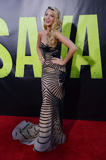 Blake Lively wearing Zuhair Murad at Savages Los Angeles premiere