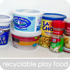Play food from recyclables