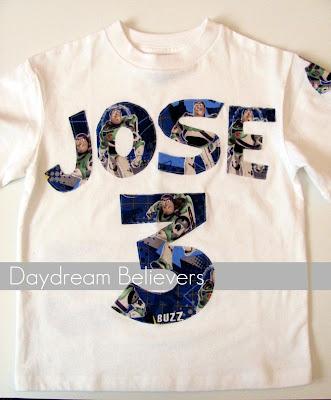 Custom Buzz Lightyear 3rd Birthday Shirt