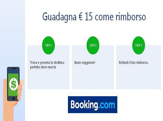 BOOKING TI RIMBORSA € 15 DOPO IL TUO SOGGIORNO DI ALMENO € 30!