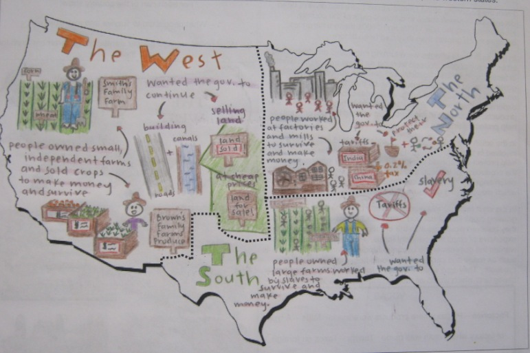 Us Sectionalism Map on nationalism and sectionalism worksheet