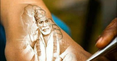 sai baba tattoo image on hand sai baba painting on hand tattoo share pics hub. Black Bedroom Furniture Sets. Home Design Ideas