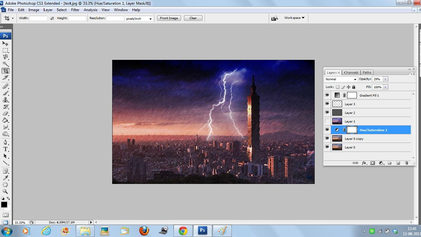 Как сделать изграфии цветной рисунок в photoshop